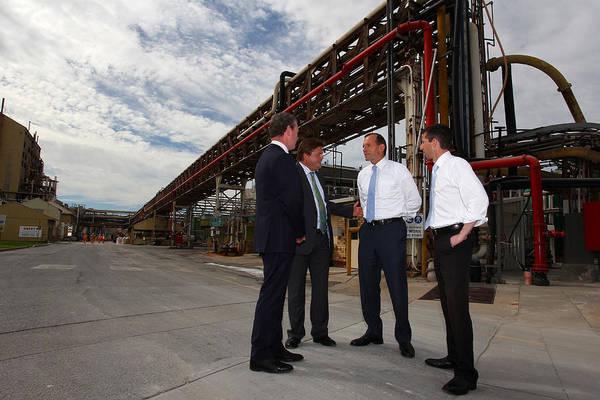 Tony Abbott Visits Adelaide As Marginal Seats Threatened Art Print by Lisa Maree Williams