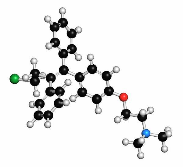 3d Model Photograph - Toremifene Drug Molecule by Molekuul