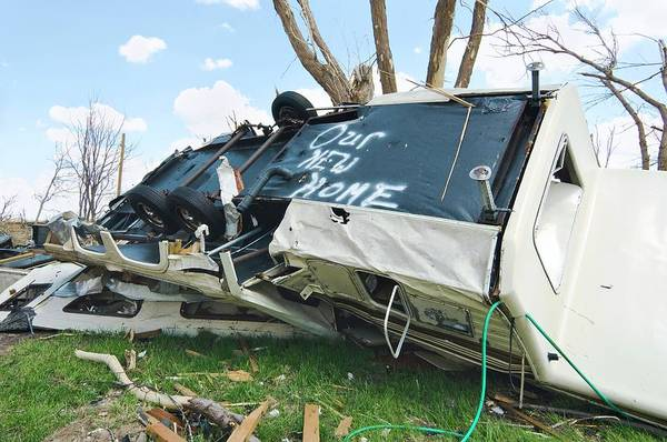 Trailer Photograph - Tornado Damage by Jim Reed Photography/science Photo Library