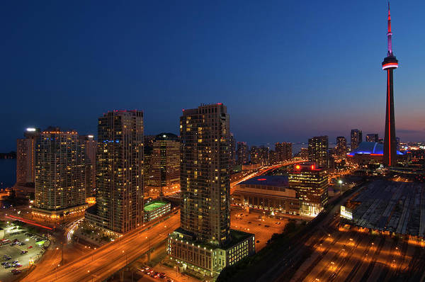 Cn Tower Wall Art - Photograph - Toronto City At Dusk With Cn Tower by Jaynes Gallery