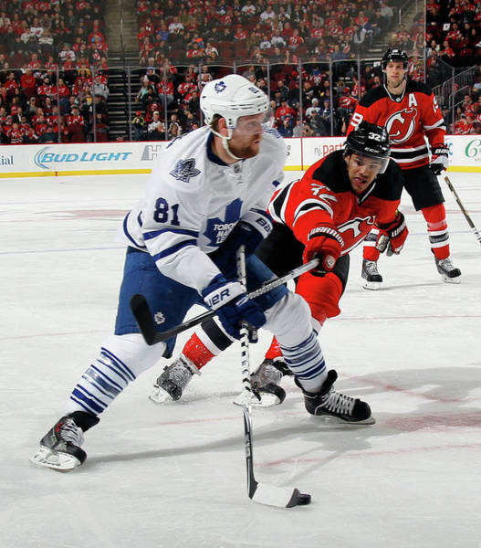 National Hockey League Photograph - Toronto Maple Leafs V New Jersey Devils by Bruce Bennett