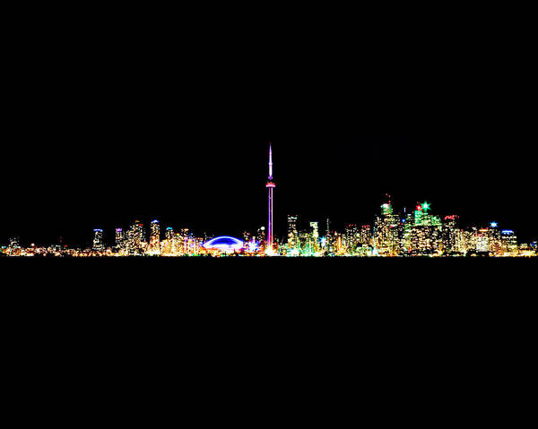 Photograph - Toronto Skyline At Night From Centre Island by Brian Carson