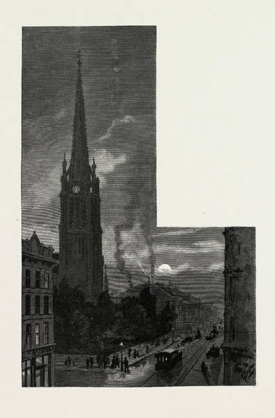Toronto Drawing - Toronto, Tower And Spire Of St by Canadian School