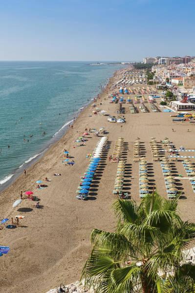 Beach Holiday Photograph - Torremolinos, Spain. La Carihuela Beach by Ken Welsh