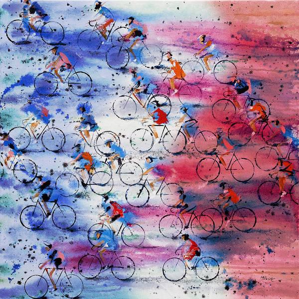 Cycling Helmet Painting - Tour De France by Neil McBride