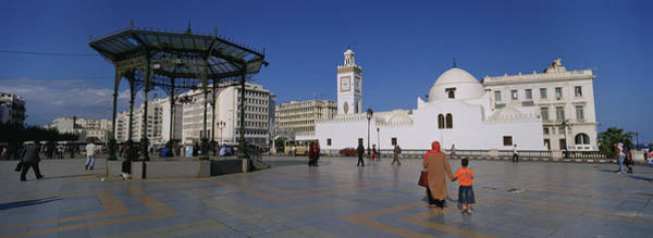 Wall Art - Photograph - Tourists Walking In Front Of A Mosque by Panoramic Images