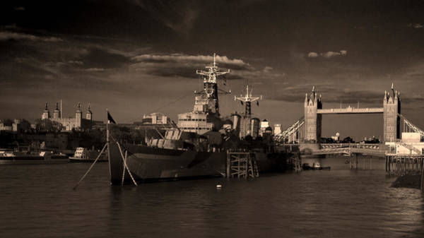 Wall Art - Photograph - Tower  Bridge Hms Belfast Tower Of London by David French