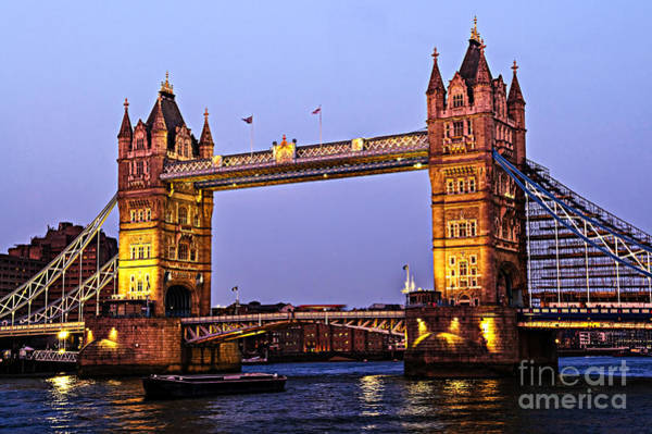 Wall Art - Photograph - Tower Bridge In London At Dusk by Elena Elisseeva