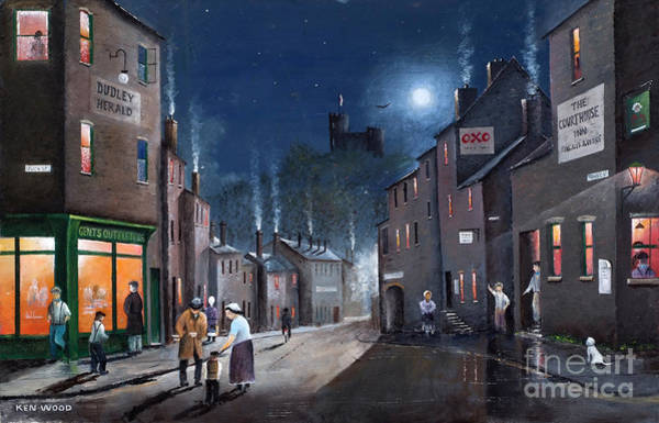 Tower Street Dudley C1930s Art Print