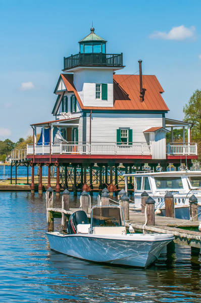 Town Of Edenton Roanoke River Lighthouse In Nc Art Print