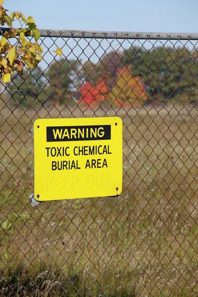 Notice Photograph - Toxic Dump Sign by Jim West