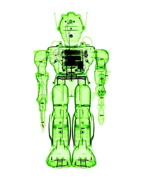 X-ray Photograph - Toy Robot by Brendan Fitzpatrick