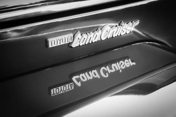 Photograph - Toyota Land Cruiser Emblem  by Jill Reger