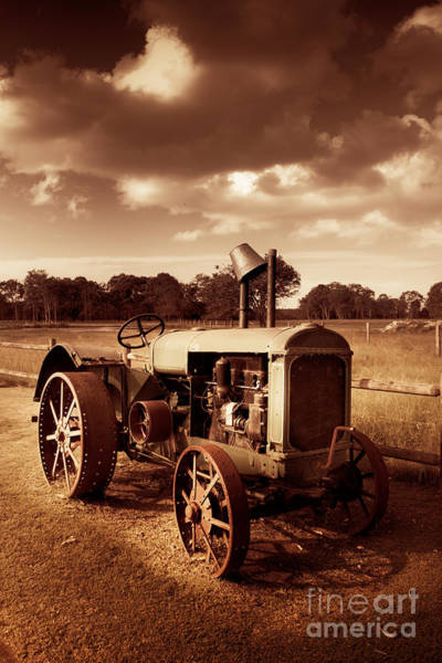Farmyard Photograph - Tractor From Yesteryear by Jorgo Photography - Wall Art Gallery