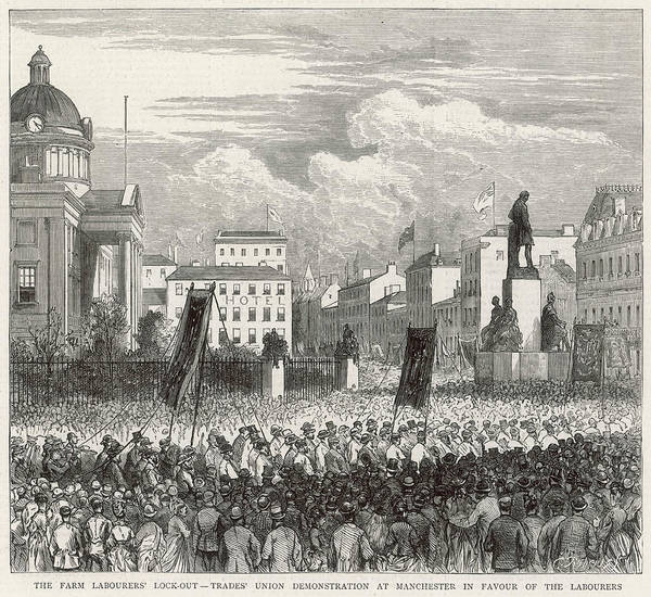 Manchester Drawing - Trade Unionists Marching by  Illustrated London News Ltd/Mar