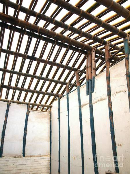 Mud House Photograph - Traditional Chinese Bamboo Structure by Yali Shi