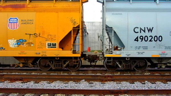 Photograph - Train Cars 2 by Anita Burgermeister
