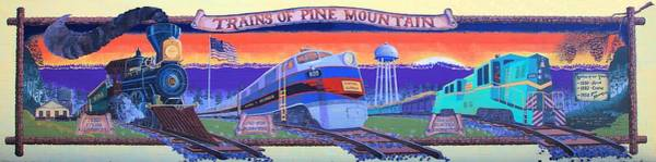 Trains Of Pine Mountain Art Print