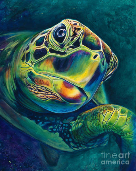 Turtle Painting - Tranquility by Scott Spillman