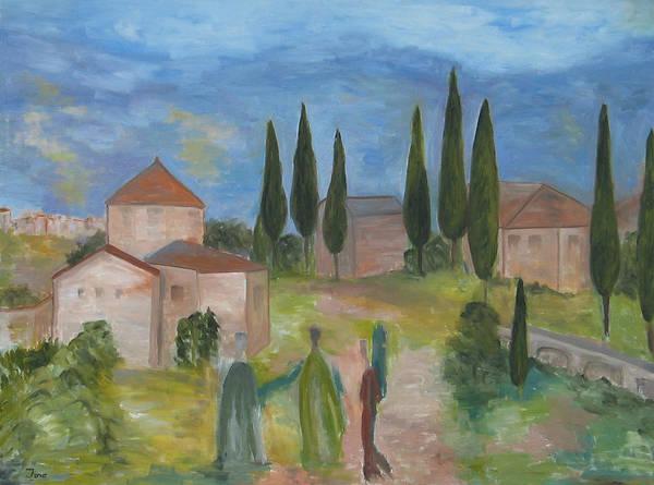 Painting - Tres Visitas En Segovia by Trish Toro