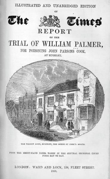 Title Page Wall Art - Photograph - Trial Of William Palmer by National Library Of Medicine