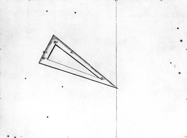 First Star Photograph - Triangulum Constellation by Royal Astronomical Society/science Photo Library