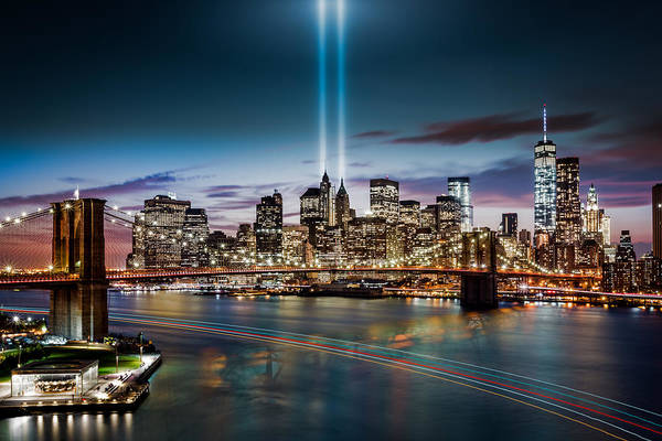 Photograph - Tribute In Light Memorial by Mihai Andritoiu