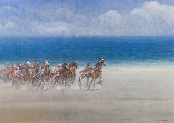 Trot Wall Art - Painting - Trotting Races, Lancieux, Brittany by Lincoln Seligman