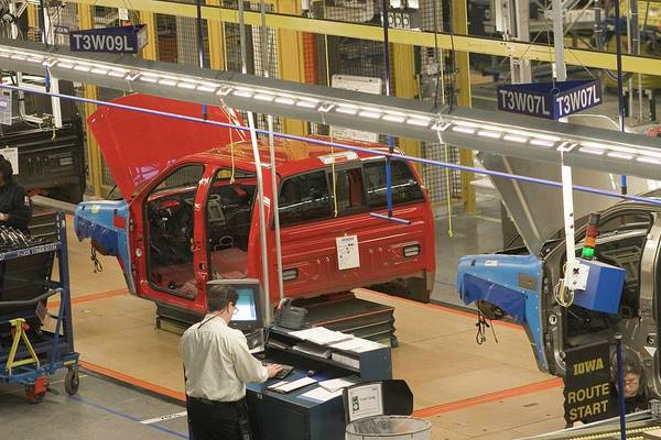 Manufacturing Plant Wall Art - Photograph - Truck Assembly Production Line by Jim West
