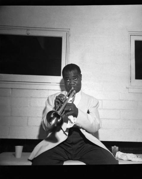 Entertainer Photograph - Trumpeter Louis Armstrong by Underwood Archives