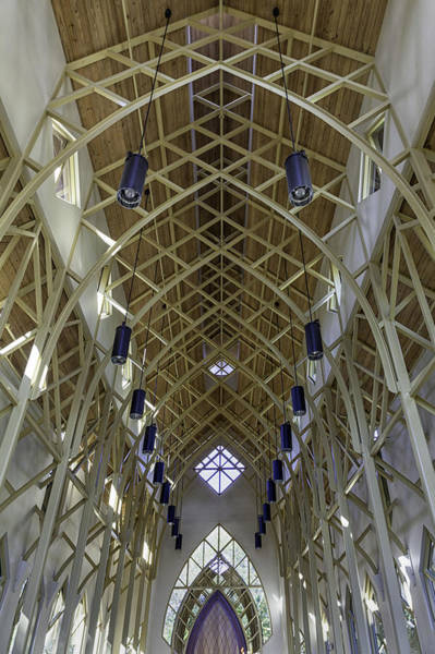 Wall Art - Photograph - Trussed Arches Of Uf Chapel by Lynn Palmer
