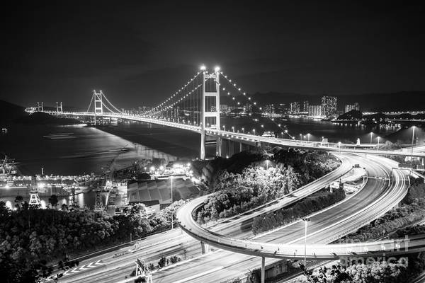 Wall Art - Photograph - Tsing Ma Bridge Hong Kong by Matteo Colombo