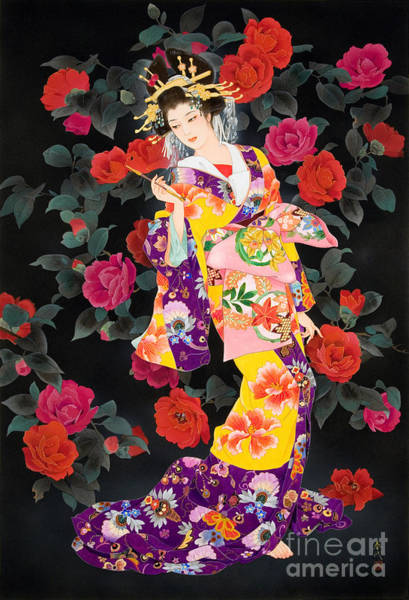 Rose Flower Digital Art - Tsubaki by MGL Meiklejohn Graphics Licensing