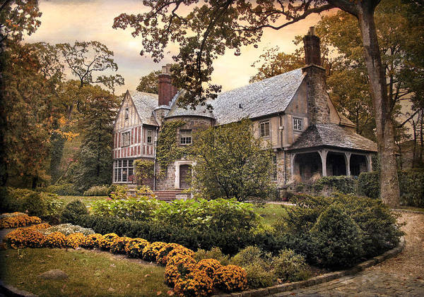 Dwelling Photograph - Tudor In Autumn by Jessica Jenney
