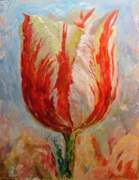 Painting - Tulip by Hans Droog