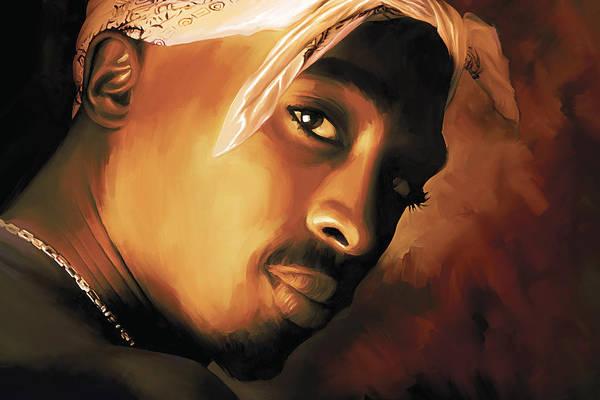 Wall Art - Painting - Tupac Shakur by Sheraz A