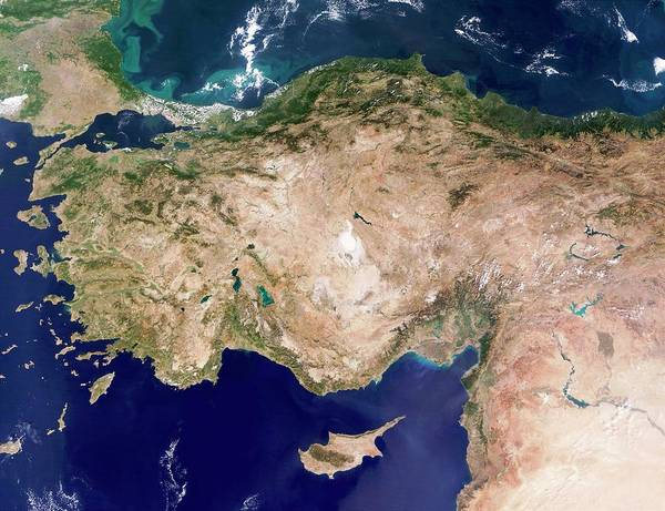 Dodecanese Photograph - Turkey by Nasa/science Photo Library