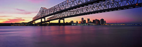 Mississippi River Photograph - Twins Bridge Over A River, Crescent by Panoramic Images