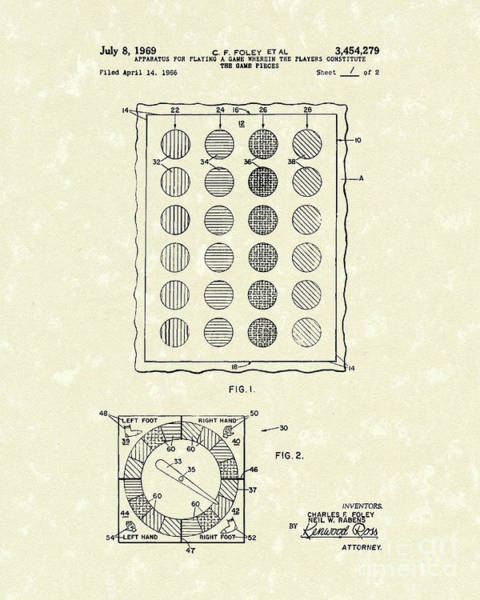 Apparatus Wall Art - Drawing - Game 1969 Patent Art by Prior Art Design