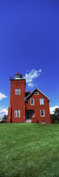 Wall Art - Photograph - Two Harbors Lighthouse On Lake by Panoramic Images