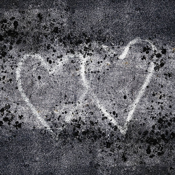 Wall Art - Photograph - Two Hearts Graffiti Love by Carol Leigh