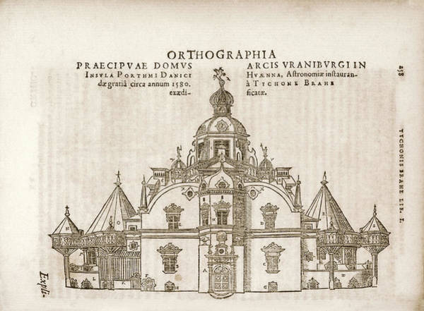 1600s Wall Art - Photograph - Tycho's Observatory Of Uraniborg by Library Of Congress
