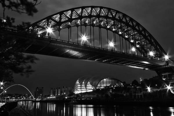 Millenium Photograph - Tyne Bridge And The Sage by Wayne Molyneux