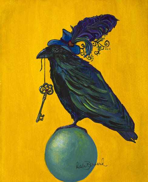 Painting - Uncommon Raven Love 2 by Dale Bernard