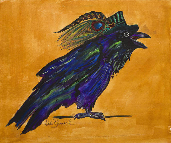 Painting - Uncommon Raven Love 3 by Dale Bernard
