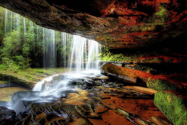 Ceiling Photograph - Under The Ledge by Mark Lucey