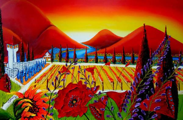Wall Art - Painting - Under The Tuscan Sun 8 by Dunbar's Modern Art