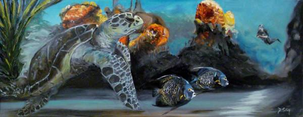 Painting - Underwater Beauty by Donna Tuten