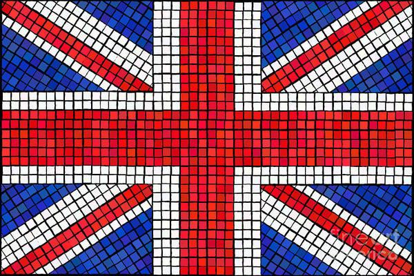 Northern Scotland Wall Art - Digital Art - Union Jack Mosaic by Jane Rix
