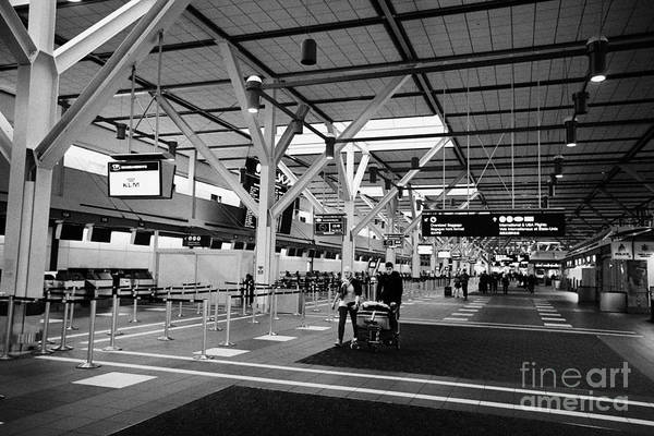 Vancouver International Airport Wall Art - Photograph - united states international departures Vancouver international airport BC Canada by Joe Fox